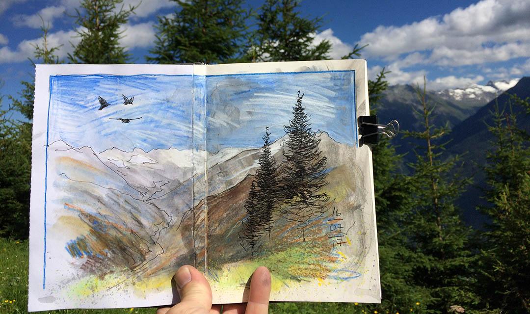 Zeichnen und Aquarellieren auf Reisen